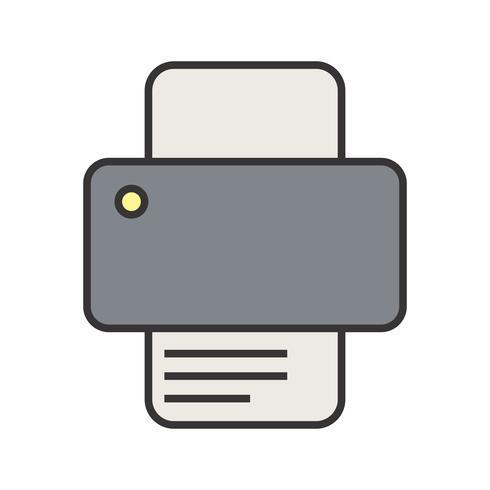 Icono de línea de impresora llena