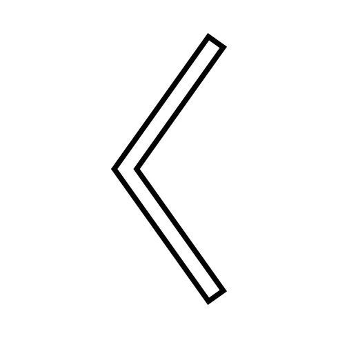 Icono de flecha izquierda línea negra vector