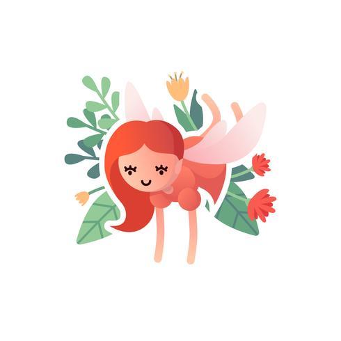 Little cartoon winged fairy.