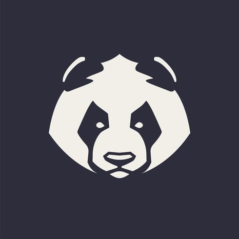 panda maskot vektorikonen