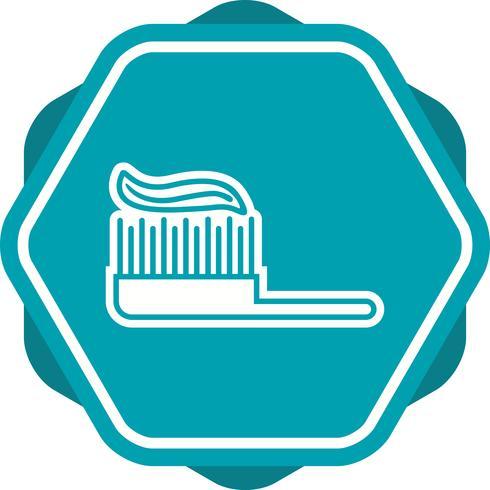Zahnbürste gefüllt Symbol