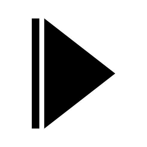 Volgende pijl glyph zwart pictogram