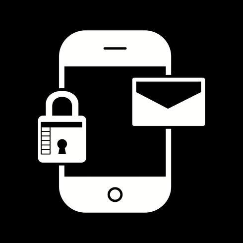 icône de message mobile vecteur