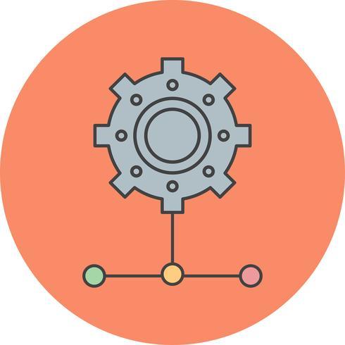 icône de réglage de vecteur