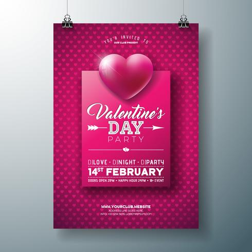 Valentinstag-Party-Flyer-Design