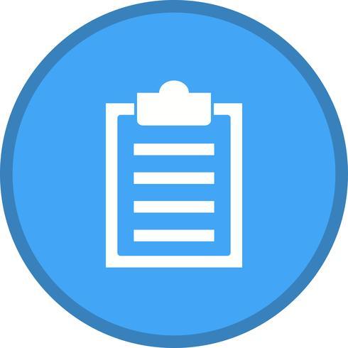 Klembord lijst gevuld pictogram
