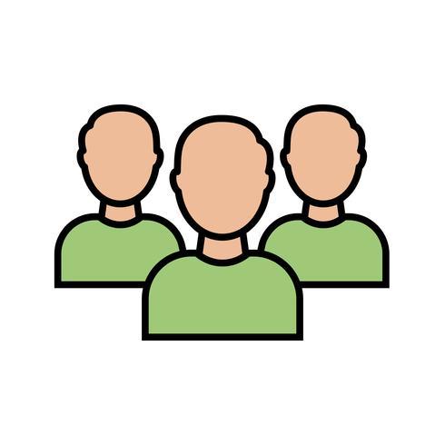 Teamzeile gefüllt Symbol