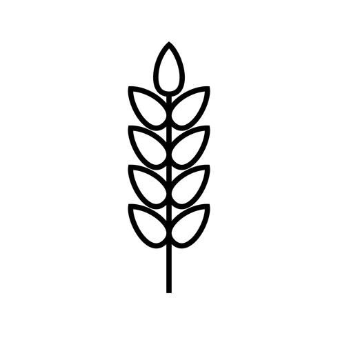 Weizenlinie schwarze Ikone