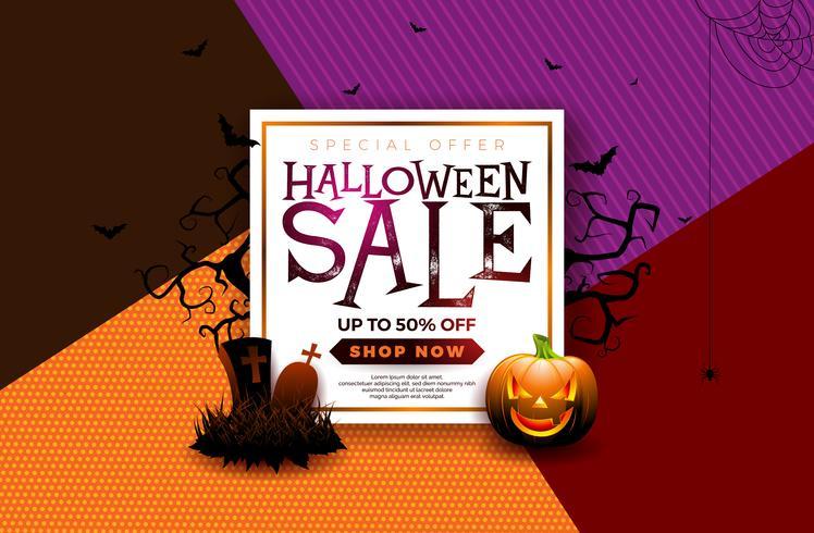 Halloween Sale banner illustration  vector
