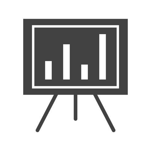 Report graph glyph black icon