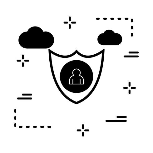 icono de usuario de vector shiled