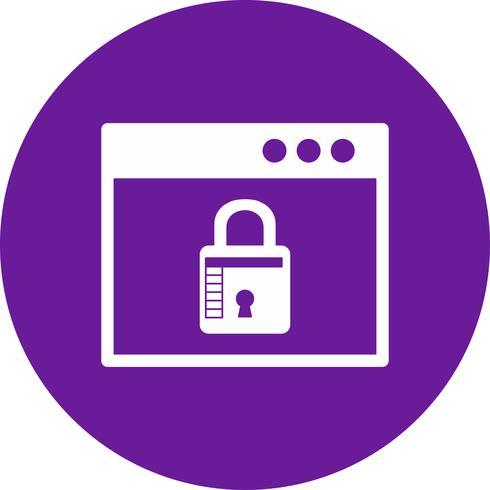 icono de bloqueo del navegador de vectores