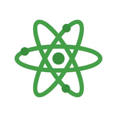Icono de multi color plano Atom