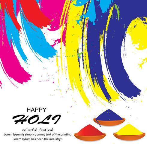 Glückliche Holi Festival Illustration