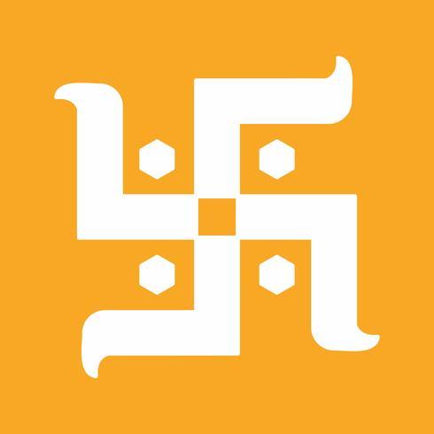 vektor hinduiskt teckenikon