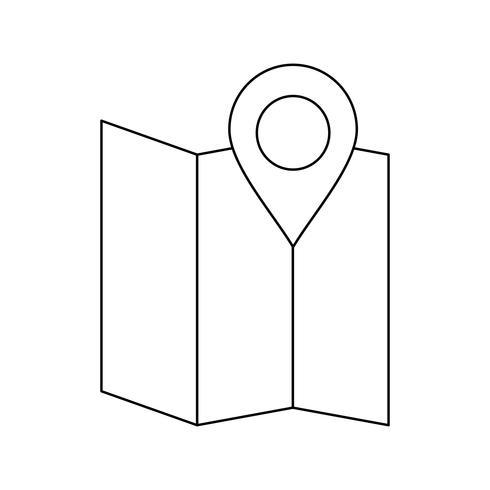 Schwarzes Symbol für Kartenzeile
