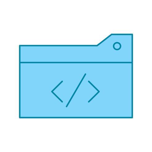 ícone de código de otimização de vetor