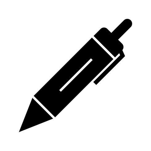 Stift Glyphe schwarzes Symbol