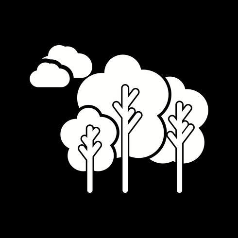 icona di alberi di vettore