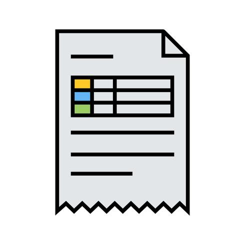 Invoice line filled icon