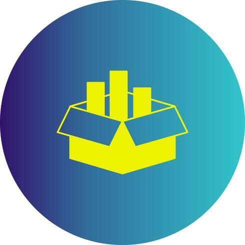 vector cargo box icon