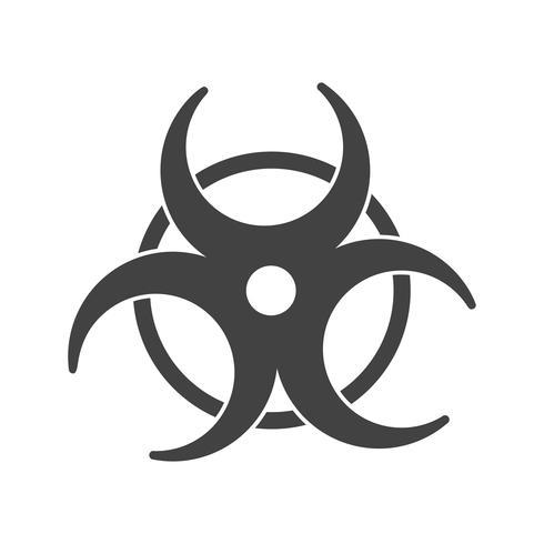 bio gevaar glyph zwart pictogram