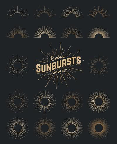 Conjunto de vectores de Sunburst