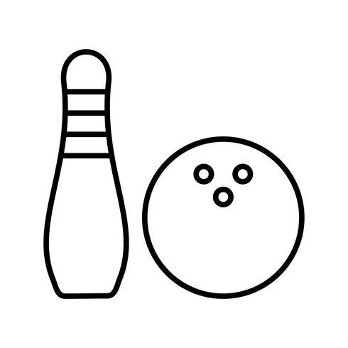 Bowling line black icon