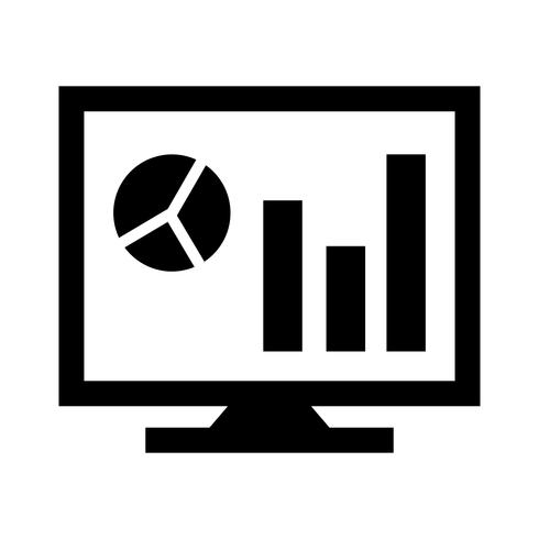 analytics on screen glyph black icon download free vectors clipart graphics vector art analytics on screen glyph black icon