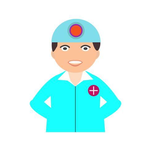 chirurg platte multi kleur pictogram