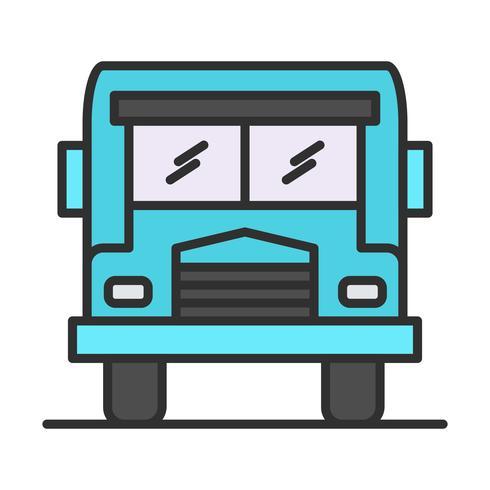 Buslijn gevuld pictogram