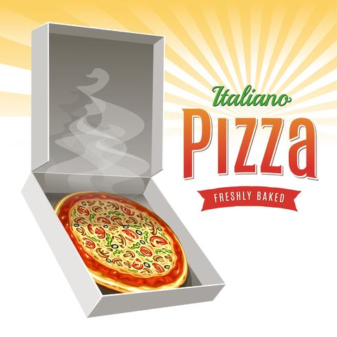 Vector de pizza caliente