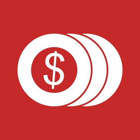 ícone de moedas de vetor