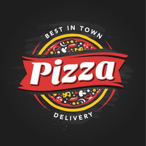 emblema di vettore di pizzeria