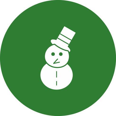 icono de hombre de nieve de vector