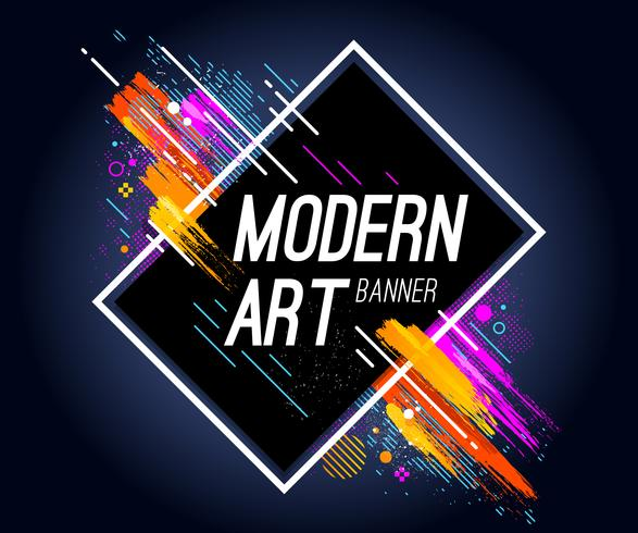 Moderne kunstbanner