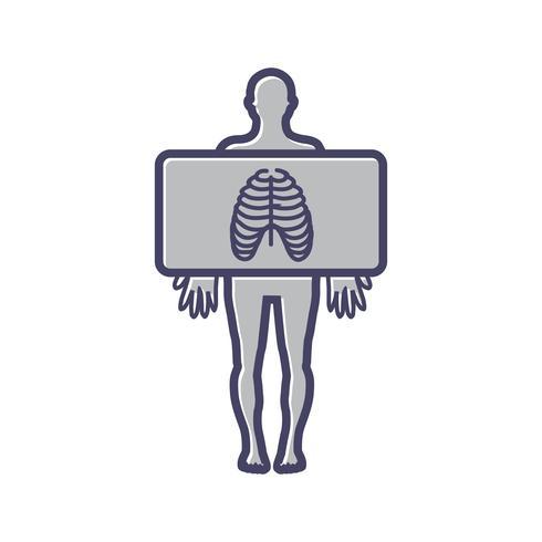 Borst x-ray lijn gevuld pictogram
