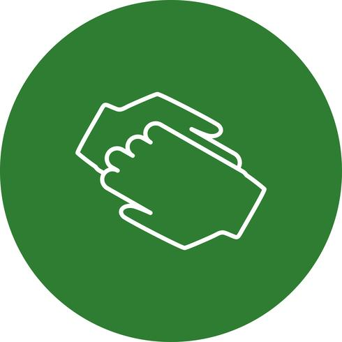 Vector hand shake icon