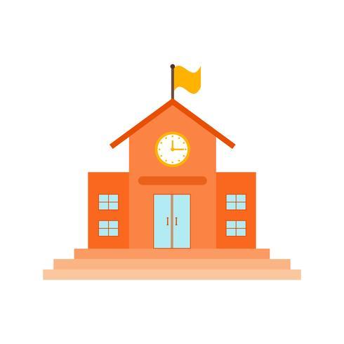Schule flach Symbol