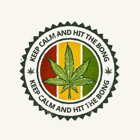 Emblema de cannabis