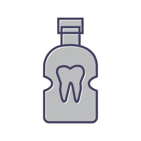 Icono de línea dental llena