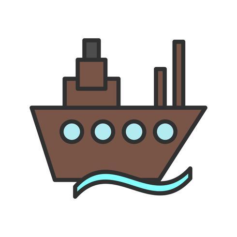 Schiplijn gevuld pictogram