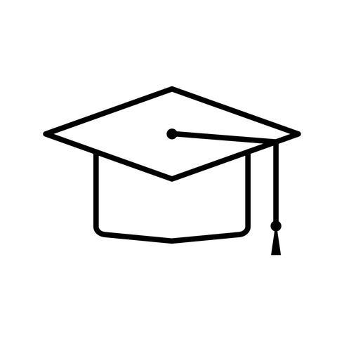 Graduate schwarze Linie Symbol vektor