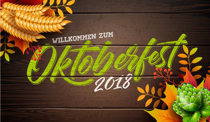 Ilustração de banner da Oktoberfest vetor