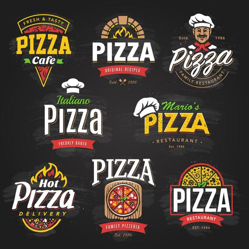 Pizza Embleme Set