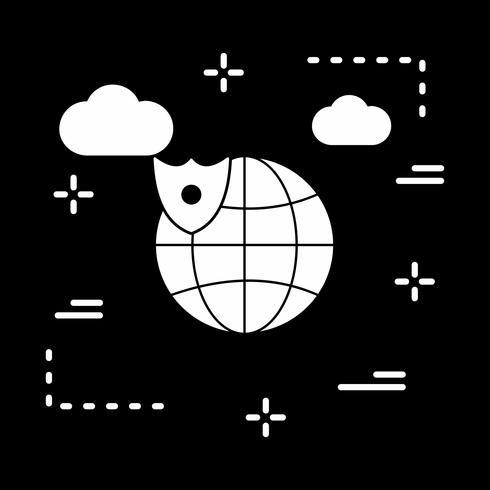 vector wereldbol icoon