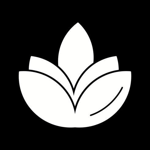 icono de vector flor diwali