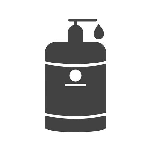 Lotion glyph zwart pictogram