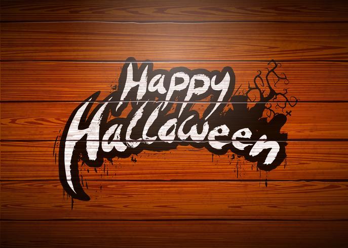 Glückliche Halloween-Vektorillustration