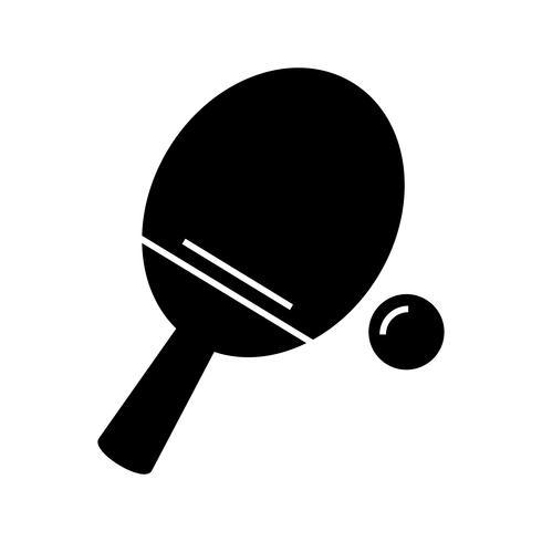 Tafeltennis glyph zwart pictogram